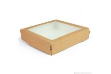 Коробка для пряников/печенья, крафт 200х200х h55 мм