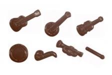 """Форма для шоколадных украшений """"Музыкальные инструменты"""""""