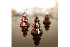 "Форма для шоколадных украшений ""Елка, Ø95хh120 мм (4 листа)"