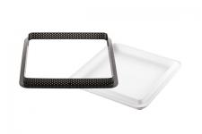 """Набор: Форма силиконовая """"Квадрат"""" (1 выемка, 170х170 h20 мм) + 1 кольцо для тарт перфорированное (200х200 h20 мм)"""
