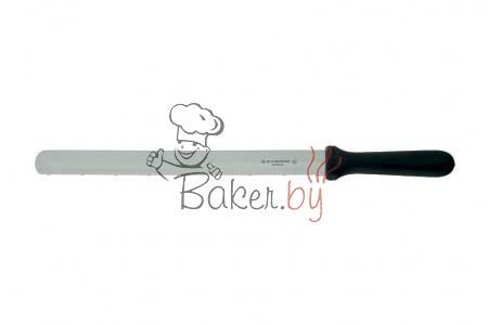 Нож пекарский с гладко-зубчатым лезвием, рабочая длина 360 мм