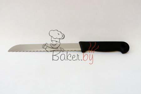 Нож пекарский с рифленым лезвием, длина с ручкой 270 мм