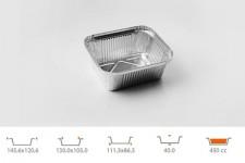 Форма для выпечки прямоугольная 111,5х86,5 h40 мм, 160 шт.