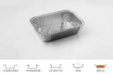 Форма для выпечки прямоугольная 127х77 h37,8 мм, 115 шт.
