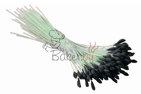 Тычинки черные для лилии, 144 шт.