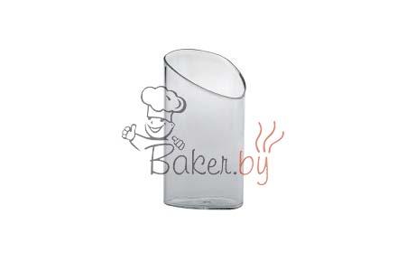 Стаканчик для десерта с косым срезом 70мл, прозрачный, 18шт/уп.