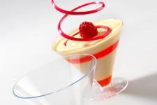 """Стаканчик для десерта """"Конусный с ножной"""" 165мл, прозрачный, 100шт/уп."""