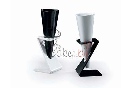 Подставка под стаканчик для десерта конусообразная, прозрачная, 6шт/уп.