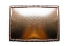 """Ажурный поднос для тортов""""Аполло"""" прямоуг. 19х42см, из фольгированного картона"""