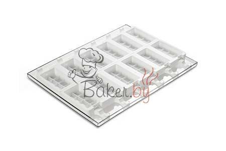 """Набор для изготовления мороженого """"Плитка"""", 12 выемок 92х48 h24 мм (50 палочек в комплекте)"""