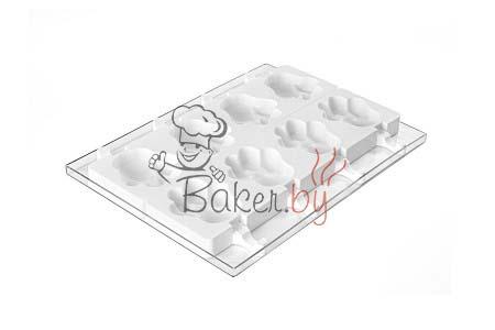 """Набор для изготовления мороженого """"Лапки"""" 8 выемок, 89х84хh24 мм (50 палочек в комплекте)"""