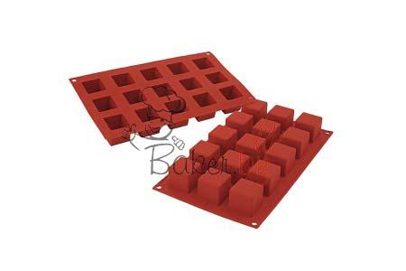 """Форма силиконовая """"Куб средний"""", 15 выемок 35х35 h35 мм"""