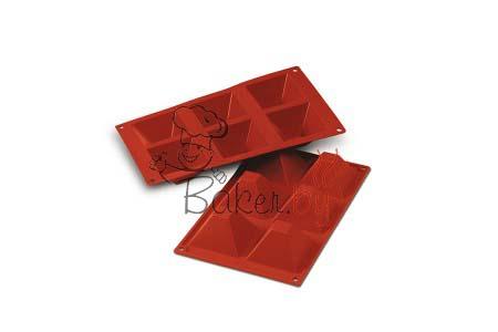 """Форма силиконовая """"Пирамида"""", 6 выемок 71х71 h40 мм"""