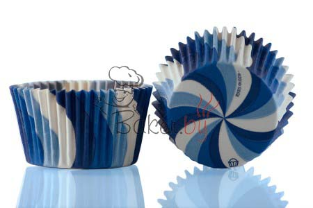 """Форма для выпечки """"Вихрь"""" голубой, Ø50 h35 мм, 1000 шт."""