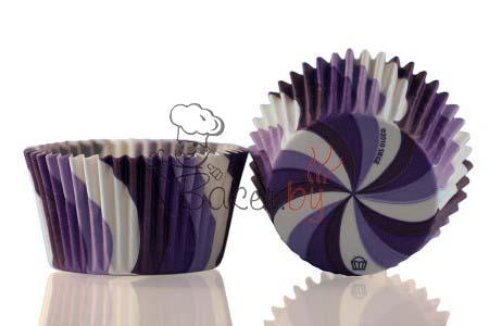 """Форма для выпечки """"Вихрь"""" фиолетовый Ø50 h35 мм, 1000 шт."""