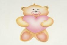 """Трафарет для раскраски """"Медвежонок с сердцем"""", 102х143 мм"""