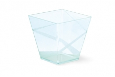"""Стаканчик для десерта """"Пирамидка"""" 200мл (прозрачный), 40шт/уп."""
