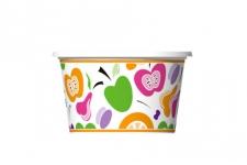 """Стаканчик для мороженого и десертов """"Натураль"""" 170мл, 50шт/уп."""