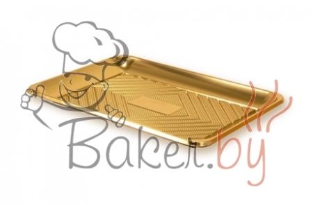 """Поднос прямоугольный """"Кадо"""" 39,5х30см, золотой, пластик"""