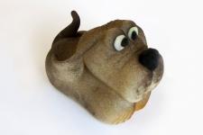 Собачка из марципана