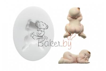 """Форма Sugarflex  """"Спящий младенец"""" 48х35 мм, силикон"""