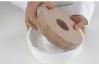 """Форма силиконовая """"Круглая рифленая с выемкой"""", Ø220 h60 мм"""