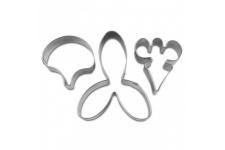 """Набор вырубок """"Орхидея"""" 45-55-75 мм, 3 шт"""