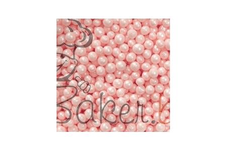 Декоративное сахарное драже Жемчужины перламутровые розовые, 1 кг