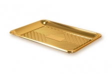 """Поднос прямоугольный """"Кадо"""" 37,5х28см, золотой, пластик"""