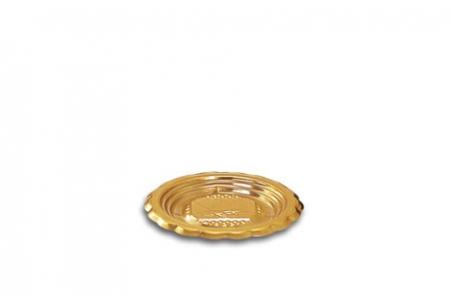 """Поднос для тортов """"Медоро"""" круглый D6см, золото, пластик"""