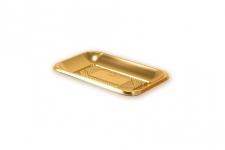 """Поднос прямоугольный """"Кадо"""" 19х13см, золотой, пластик"""