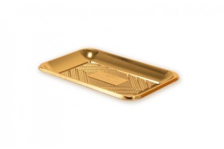 """Поднос прямоугольный """"Кадо"""" 23,5х16см, золотой, пластик"""