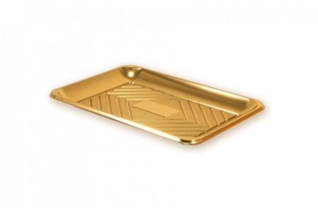 """Поднос прямоугольный """"Кадо"""" 27х19см, золотой, пластик"""