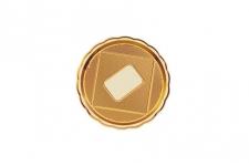 """Поднос для тортов """"Медоро"""" круглый D20см, золото, пластик"""