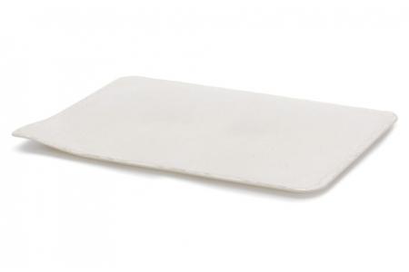"""Поднос прямоугольный """"Стоун"""" 30х14см, белый (10 шт/упак.), пластик"""