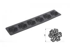 "Коврик для ажурного декора ""Цветы"", 80х400 мм"