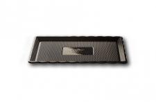 """Поднос для тортов """"Медоро"""" прямоугольный 25х15см, черный, пластик"""