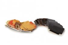 Крышка к ленте прозрачной Easy Pack для упаковки 4,8х4,8 см, черный/золото, 200шт/уп.