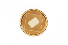 """Поднос для тортов """"Медоро"""" круглый D22см, золото, пластик"""