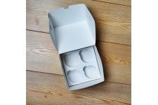 Коробка для капкейков (на 4 шт), 160х160х h100 мм