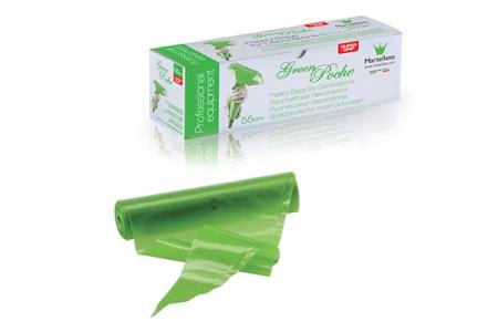 Мешки кондитерские одноразовые зеленые в рулоне 550 мм, 100шт/уп.