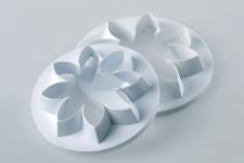 """Выемка Uni Flowers """"Хризантема 8 лепестков"""" (2 шт), Ø80мм-Ø70мм"""