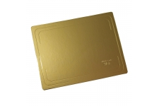 Подложка для торта усиленная, 300х400 мм (толщина 3,2мм), золото/жемчуг, из фольгированного картона