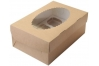 Коробка для капкейков с окном (на 6 шт), 250х170х h100 мм