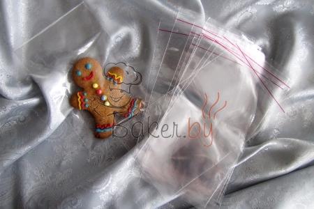 Пакет для пряников/печенья с клейкой лентой 100х150 мм, 10 шт