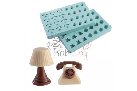 """Форма для конфет """"Телефон и лампа"""" (в наборе 2 формы)"""