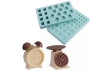 """Форма для конфет """"Весы и будильник"""" (в наборе 2 формы)"""