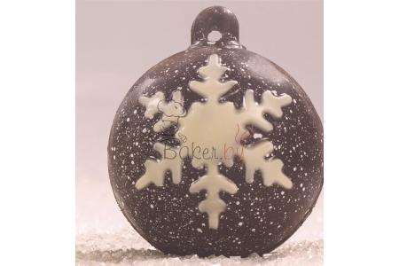 """Форма для шоколадных украшений """"Елочная игрушка 004"""", Ø60 мм (2 пластины по 6 ячеек)"""