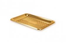 """Поднос прямоугольный """"Кадо"""" 29х21см, золотой, пластик"""