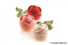 """Форма силиконовая """"Роза 3D"""", 6 выемок Ø70 h55 мм"""